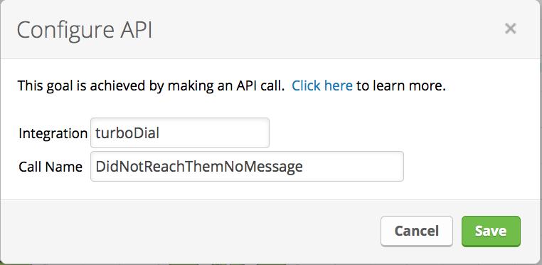 API Goal Config