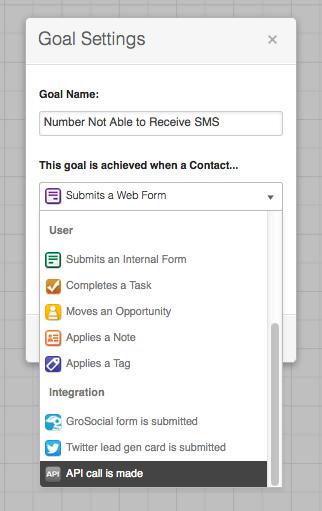 Campaign API Goal