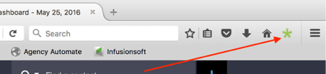 Extension in Toolbar