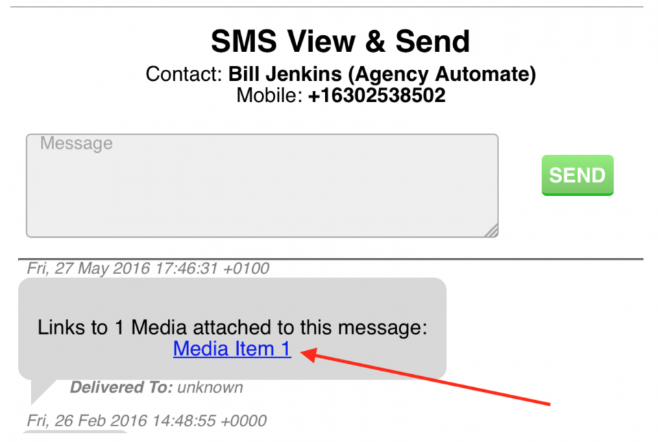 SMS View and Send with media